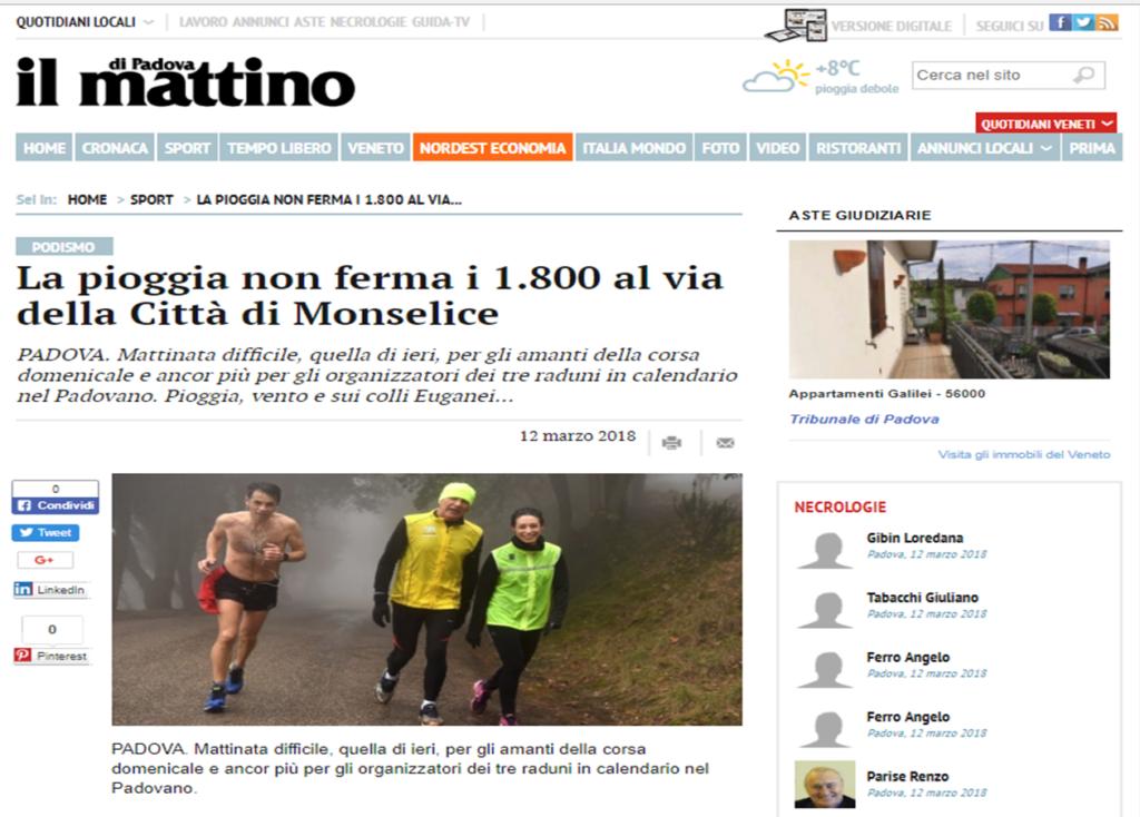 Calendario Marce Veneto.La Pioggia Non Ferma I 1 800 Al Via Della Citta Di Monselice